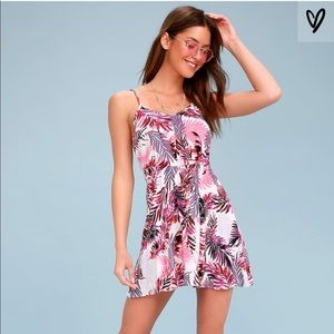 Fifer Pink Leaf Dress